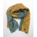 Scarf in alpaca and silk hand dyed