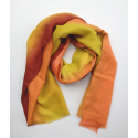 Scarf Stole hippie style in orange