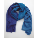 Scarf Stole in three kinds of blue