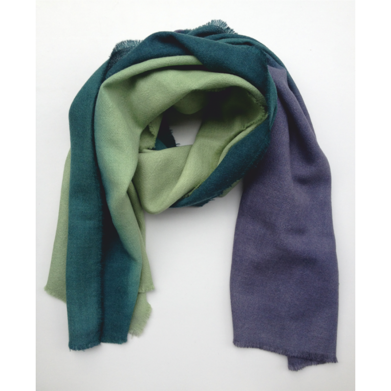 Stole Scarf light green and blue
