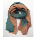 Scarf Stole green and melon