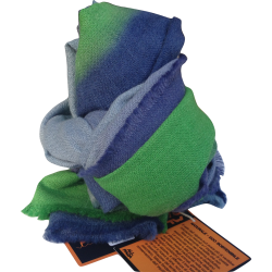 Stole Scarf baby alpaca green and blue