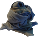 Stole Scarf baby alpaca gray and blue