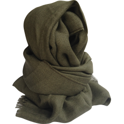 Scarf Stole in alpaca wool green Khaki