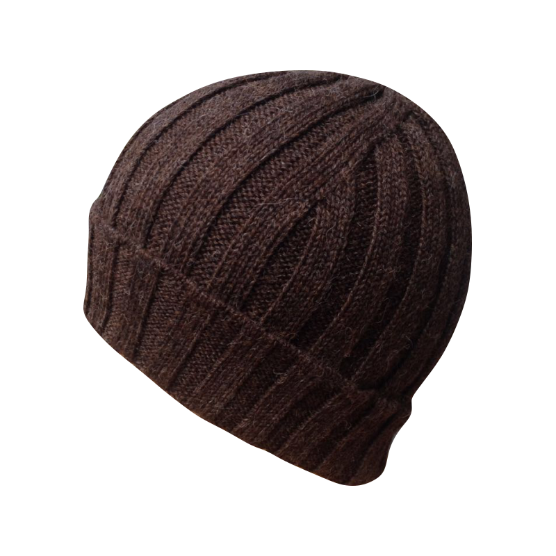 Hat Beanie baby alpaca brown