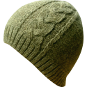 Hat Beanie woman alpaca green melange