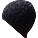 Hat Beanie woman alpaca black melange