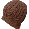 Women's Hat Beanie baby alpaca brown