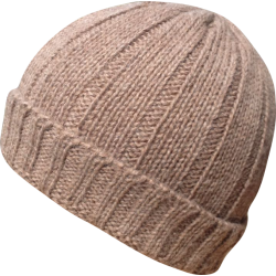 Hat Beanie baby alpaca light brown