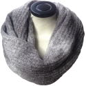 Infinity scarf gray in eco friendly alpaca wool