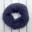 Infinity scarf in eco friendly alpaca wool blue