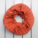 Infinity scarf in eco friendly alpaca wool brick color