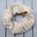Infinity scarf in eco friendly alpaca wool beige melange