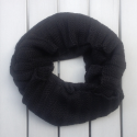 Infinity scarf in eco friendly alpaca wool black