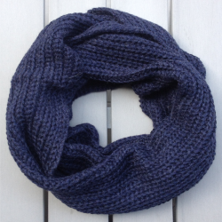Infinity scarf Cowl in baby alpaca blue