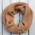 Infinity scarf Cowl in baby alpaca brown