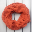 Infinity scarf Cowl in baby alpaca brick color