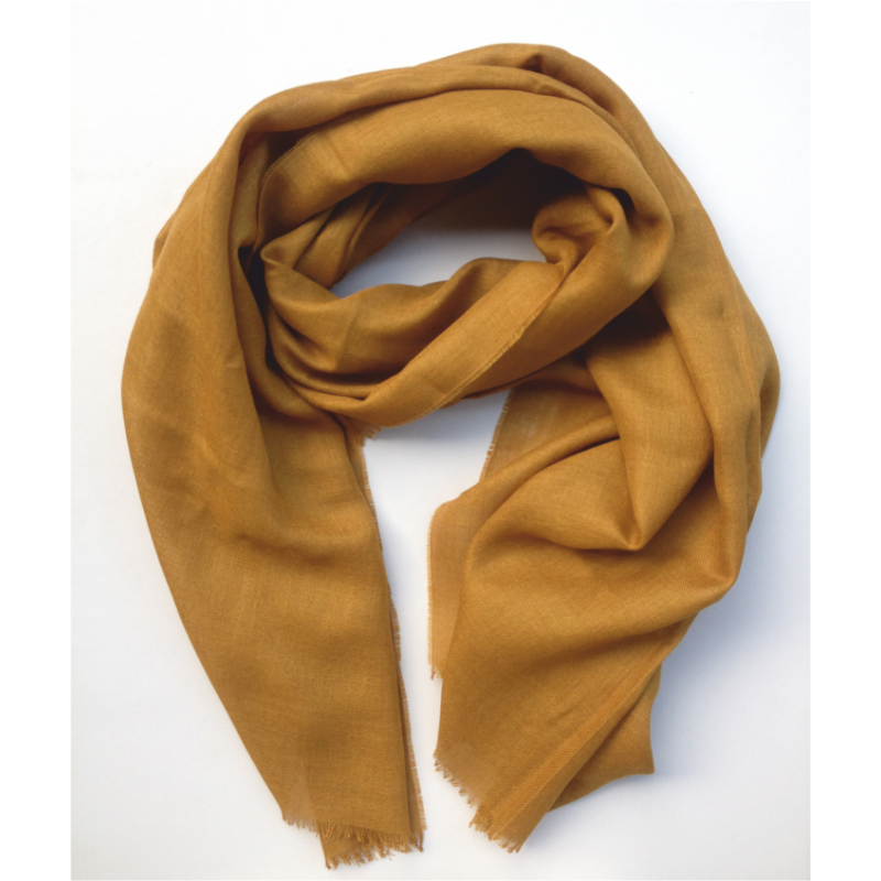 Scarf in alpaca wool color camel