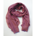 Scarf in alpaca wool color red melange