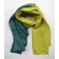Stole Scarf yellow and green