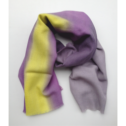 Stole Scarf lilac yellow and blue