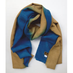 Scarf Stole brown and sea blue