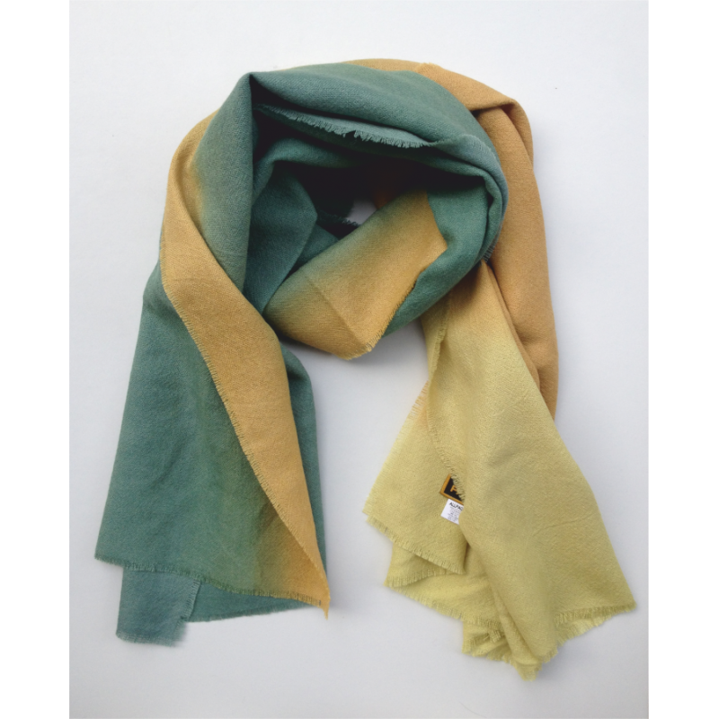 Stole Scarf green blue and yellow