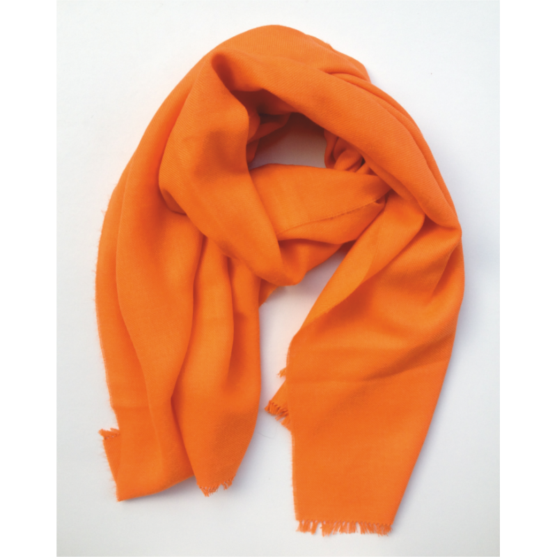 Foulard Ècharpe en laine couleur orange